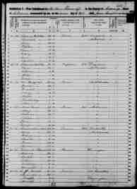 1850 Census - Hibben, Thomas & Family