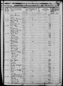1850 Census - Long Family