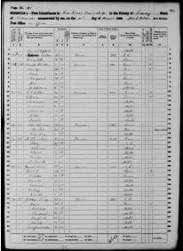 1860 Census - Long Family