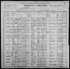 William S Spencer Family - 1900 Census