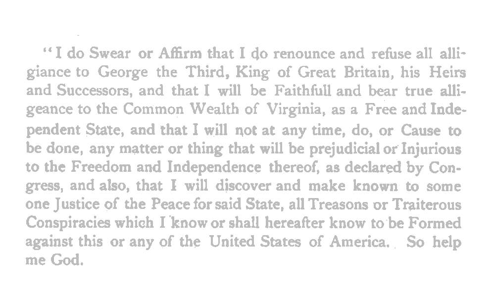 James Anthony Sr - Oath of Allegiance to United States - 1777