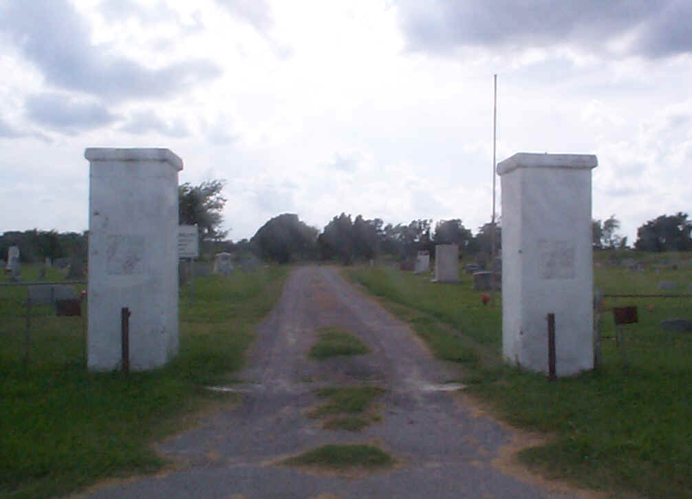 Entrace to Rose Hill Cemetery in Johnston Co., Oklahoma